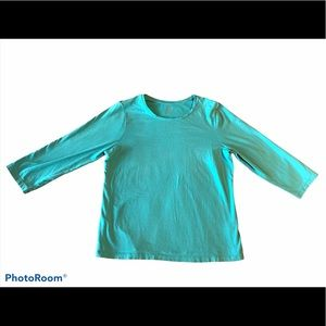 Chico's True color Tees Blue T-shirt Basic Size 2